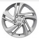 "Nissan New Qashqai 17"" silver G081-2 alloy wheel with centre caps - Snow flake - KE4094E200"