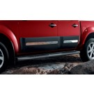 Nissan NAVARA Side Cladding Upgrade (stainless steel) - Front Door Set - KE760EB055